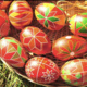 Ukrainian dyed eggs