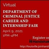 Department of Criminal Justice Virtual Career and Internship Fair