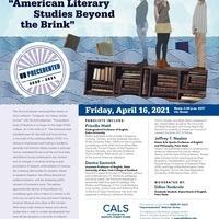 """American Literary Studies Beyond the Brink"" a CALS Unprecedented Webinar"