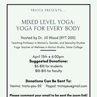 Mixed Level Yoga flyer