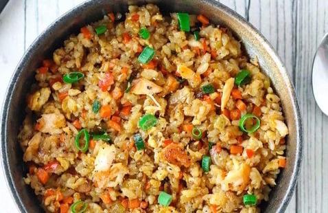 Salmon Fried Rice Bowl