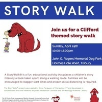 Story Walk - Clifford the Big Red Dog