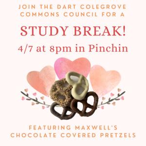 study break 4/7 at 8pm in pinchin
