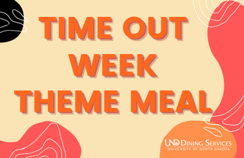 the words time out week theme meal