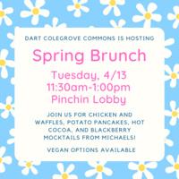spring brunch 4/13 11:30am-1:00pm pinchin lobby