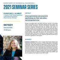 BME Seminar Series: Dr. Christine Schmidt, The University of Florida