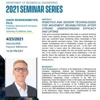 BME Seminar Series: David Reinkensmeyer, Ph.D.; University of California, Irvine