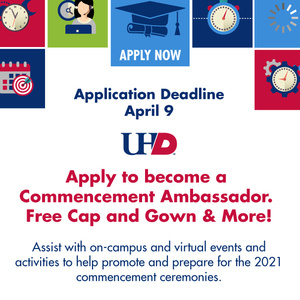 Apply to Become a Commencement Ambassador. Application Deadline April 9