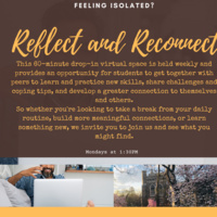 Reflect and Reconnect: Meaningful Dialogue | Counseling Center