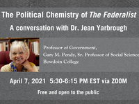 """""""The Political Chemistry of THE FEDERALIST"""" with Dr. Jean Yarbrough"""