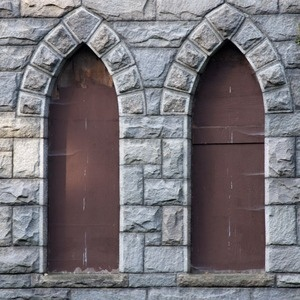 The windows we aim to repair with the money raised from this contest fundraiser!