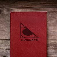 Illuminati graphic element on a book