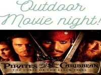 Outdoor movie night! Pirates of the Caribbean: The Curse of the Black Pearl