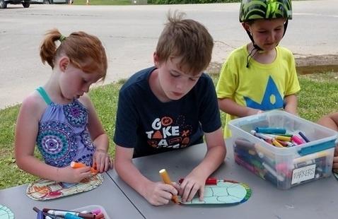 kids doing a craft