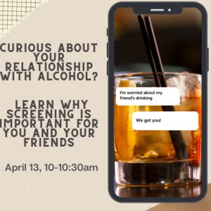 Event: Curious about your alcohol use?