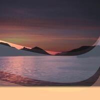 Alaskan coast at sunset