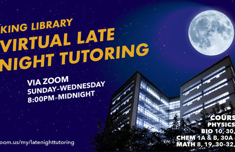 SJSU King Library Late Night Tutoring