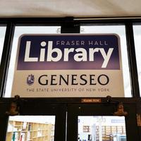 Fraser Hall Library Sign