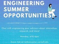 Engineering Summer Opportunities for First Years
