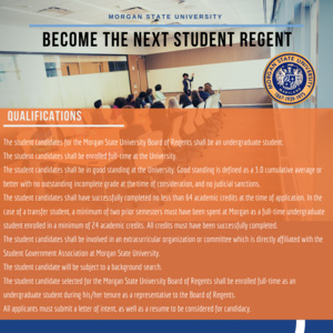 Become the Next Student Regent. Applications Open!
