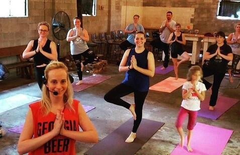 Yoga at Slow Pour Brewery