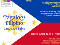 Tagalog/Filipino Language Table