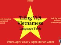 Vietnamese Language Table
