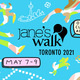 Jane's Walk Festival poster for Toronto artist Janie Hao