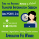 Time for Answers, Attend a Virtual Transfer Information Sessions. April 29, 2021 at 3pm. Lee College and UHD. Application Fee Waiver.