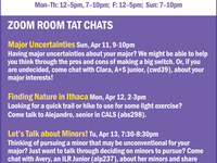 TAT CHATS: informal conversations for first years and transfers