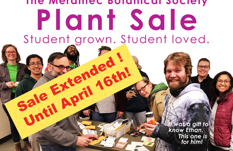 Poster for Plant Sale highlighting that the sale has been extended until April 16
