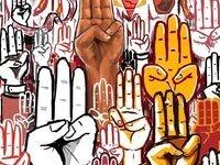 Three-finger movement image