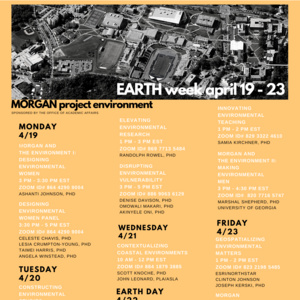 Morgan Earth Week: Designing Environmental Women