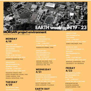 Morgan Earth Week: Innovating Environmental Teaching
