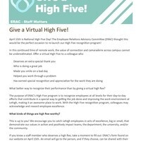 National High Five | Employee Relations Advisory Committee