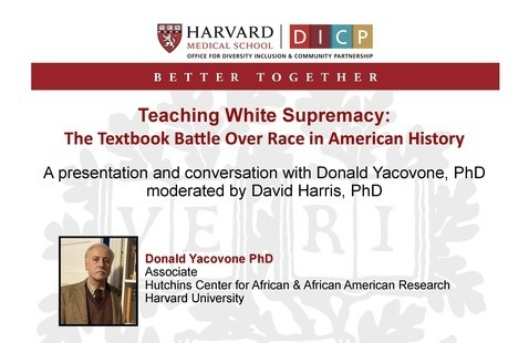 Flyer for Teaching White Supremacy: The Textbook Battle Over Race in American History