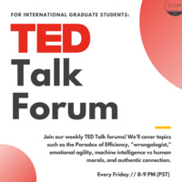 International Grad Students - TED Talk Forum