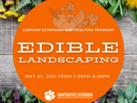 Edible Landscaping May 27, 2021 from 7 pm to 8 pm