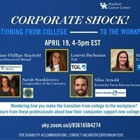 Corporate Shock! Transitioning from College to the Workplace