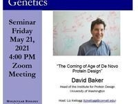 "MBG Friday Seminar: ""The Coming of Age of De Novo Protein Design"""