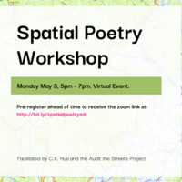 Poster for Spatial Poetry Workshop