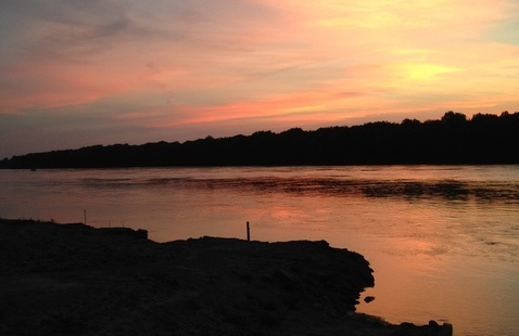 Sunset on the Wabash River