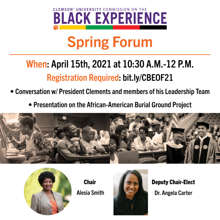 Commission on the Black Experience Spring Forum Promotional Graphic
