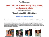 "Breaking Bread: a panel discussion on ""The Immortal Life of Henrietta Lacks"""