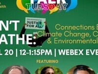 Talk Tuesday: I Can't Breathe:  Connections between Climate Change, COVID-19, & Environmental Racism