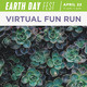 Earth Day Fest. April 22 11am-2pm. Virtual Fun Run. There is a picture of multiple green succulents on this image.