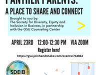 SDEIB Presents: Panther Parents | A place to share and connect