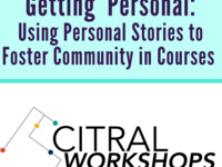 Getting  Personal: Using Personal Stories to Foster Community in Courses