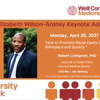 Elizabeth Wilson-Anstey Diversity Week Keynote Lecture
