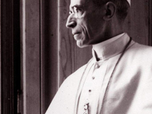 """Still shot of Pope Pius XII from """"Holy Silence"""" documentary film."""